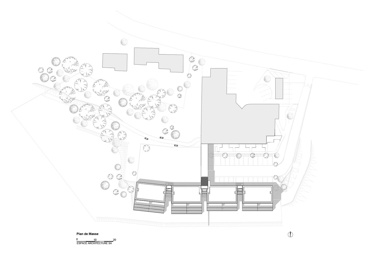 20 logements PASSIFS Plan-masse
