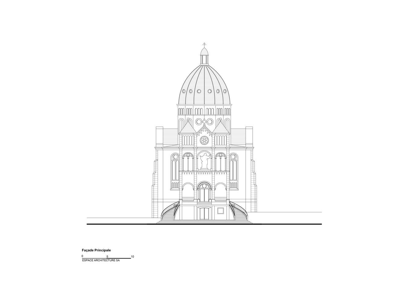 Basilique Notre Dame de Bon Secours Facade-avant
