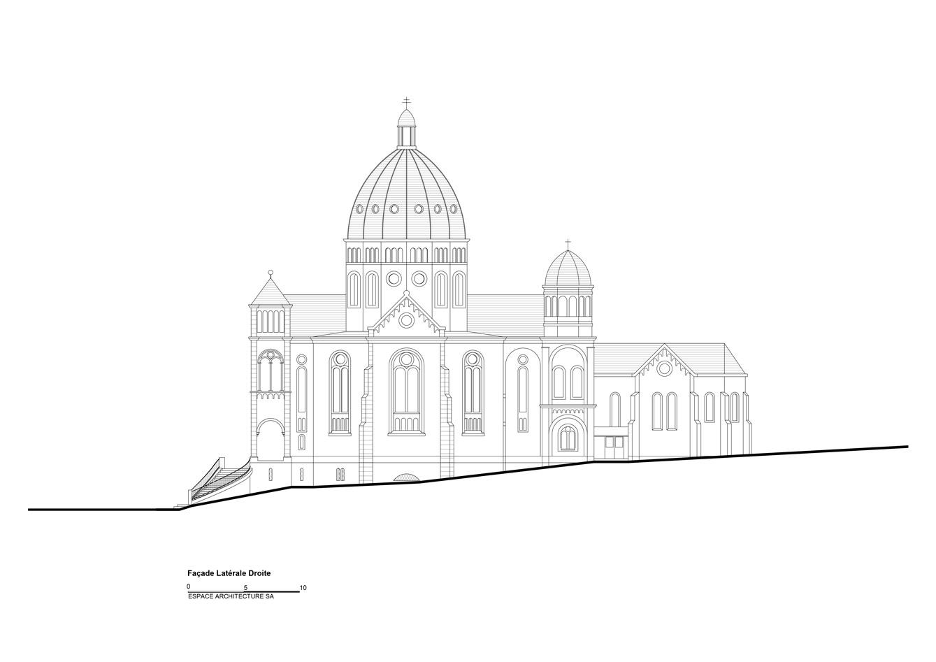 Basilique Notre Dame de Bon Secours Facade latérale droite
