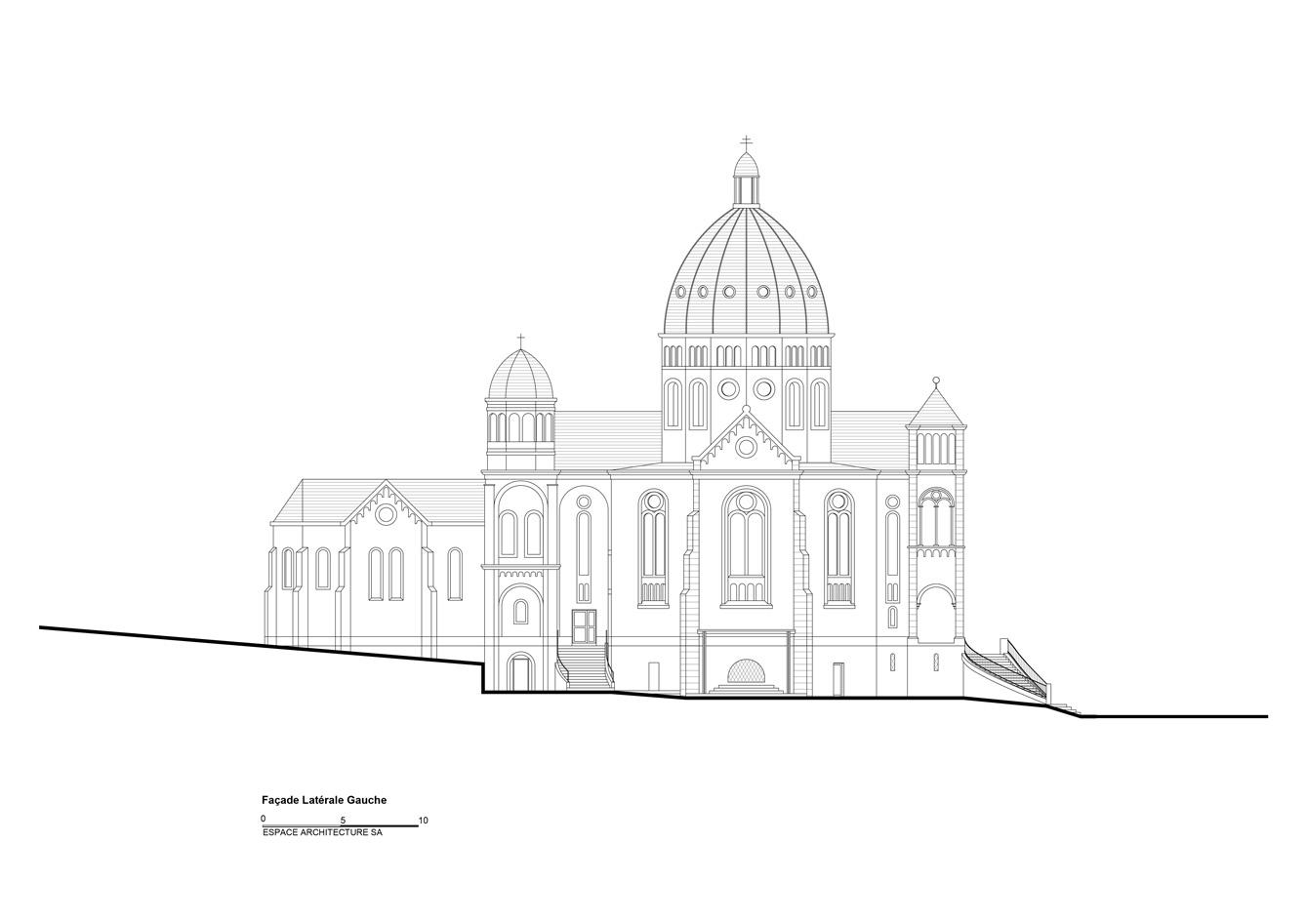 Basilique Notre Dame de Bon Secours Facade latérale gauche