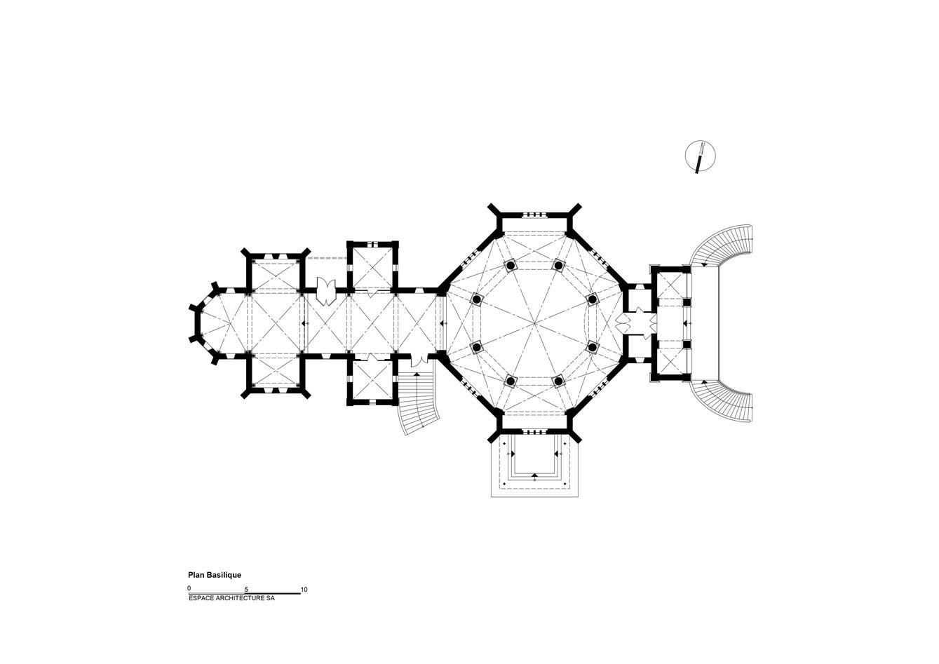 Basilique Notre Dame de Bon Secours Plan-crypte