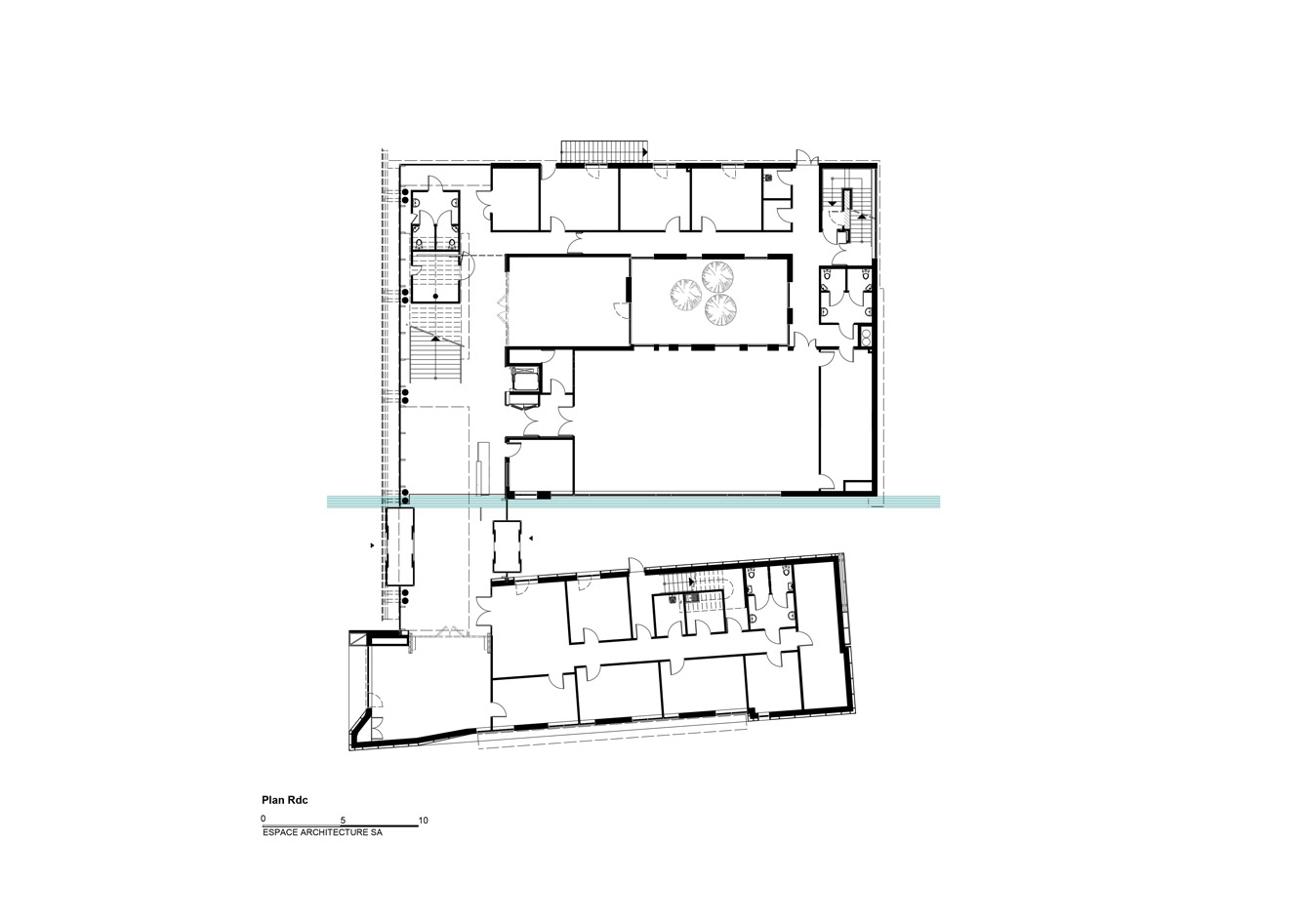 Hotel-de-ville-Freyming_Plan-RDC
